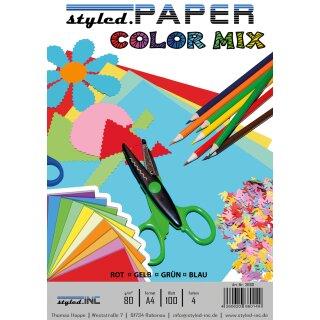 ansicht styled.Paper Color Mix 100 Blatt 4 Farben