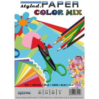 ansicht styled.Paper Color Mix 60 Blatt 6 Farben