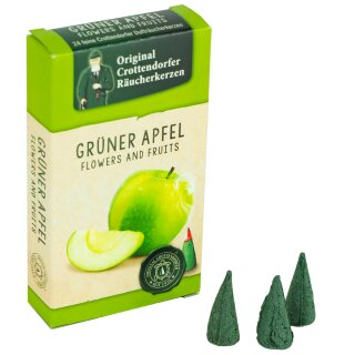 ansicht Crottendorfer Räucherkerzen Grüner Apfel