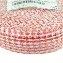 Lachsschinkennetze 50m rot/weiß 18er