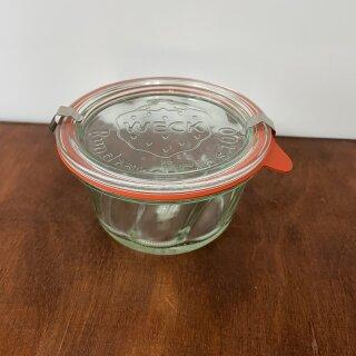 Ansicht Weck Gugelhupfglas mit Ringen und Klammern
